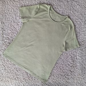 3/$30 A New Day Light Green Ribbed Basic Tee XXL